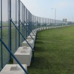 Temporary Lego Block Mesh Panel Fencing