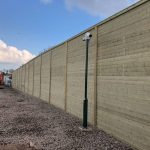 Acoustic Fencing Panel With CCTV Camera
