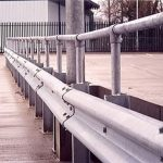 Armco Barriers With Handrail In Car Park