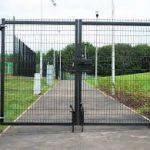 Black Mesh Panel Gate