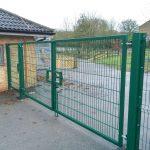 Green Mesh Panel Gate