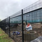 Mesh Panel Fencing Surrounding AMG Property