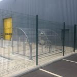Mesh Panel Fencing With Mesh Gate