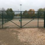 Green Mesh Panel Gate and Fencing