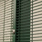 Close Up Of Mesh Panel Fencing