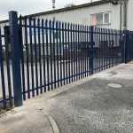 Blue Palisade Steel Gate