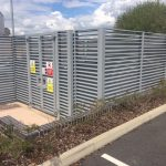 Steel Fencing And Entrance