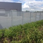 Steel Fencing Around Loading Bay