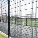 Black Steel Fence Around Play Area