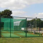 Steel Green Fencing Around Cricket Cages
