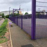 Purple Fencing Around Multi Use Games Area