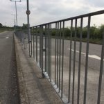 Steel Railings On Roadside