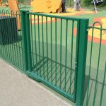Green Steel Railings For Park