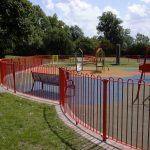 Red Park Steel Railings