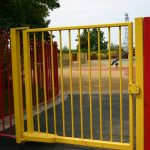 Yellow Steel Park Play Area Gate