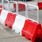 Temporary Plastic Barrier With Steel Top
