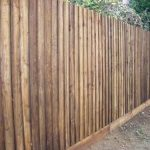 Brown Tall Timber Fencing