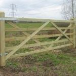 Timber Fencing And Gate