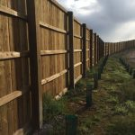 Heavy Duty Timber Fencing With Pillars