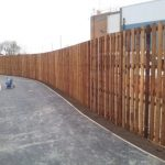Light Brown Tall Timber Fencing