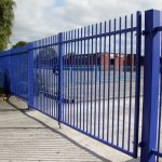 Blue Vertical Bar Gate